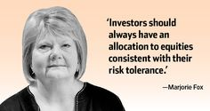 Investment advice from Marjorie Fox, CEO, Fox, Joss & Yankee (Credit: Bryan Thomas for the WSJ)