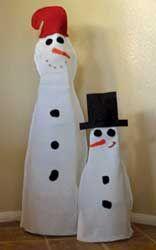 Felt Ghost & Snowman | Desert Saints Magazine