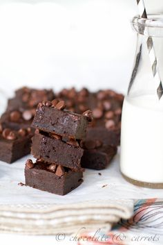 Pumpkin Brownies- just brownie mix & pumpkin!   Add store bought pumpkin pie spice to add to the flavor--about a good TSP or more (optional) and substitute chocolate chips (optional) with peanut butter chips. Use butter to butter the pan.  Low calorie dessert.