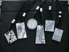 Tangled Ink Art: Shrink Art Jewelry