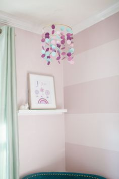 Project Nursery - Purple, Teal and Mauve Mobile