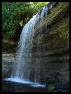 Largest Freshwater Island in the World - Bridal Veil Falls, Kagawong, Manitoulin Island, Ontario