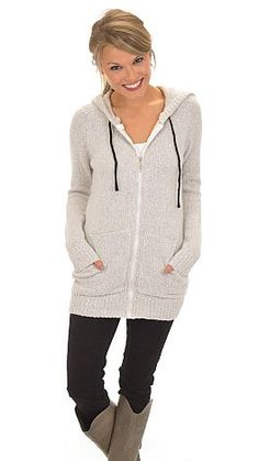 Just go ahead and put this hoodie on and then never take it off! $46 at shopbluedoor.com