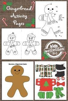 Ginger Bread Man Printable for Kids