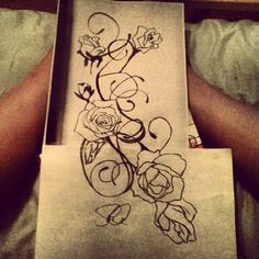 Rose And Vines Tattoos | Rose and Vine Tattoo Sketch by ~sd2kool4u on deviantART