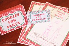 FREE Thank You Santa Stationery & Cookies for Santa Tags www.247moms.com #247moms