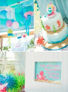 Mermaid Princess Birthday Party with LOTS OF CUTE IDEAS via Kara's Party Ideas | Kara'sPartyIdeas.com #UnderTheSea #party #ideas #supplies