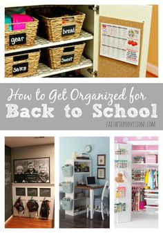 Getting Organized for Back to School | Faithful Provisions