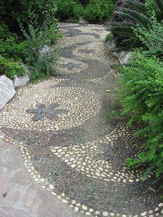 pebbl mosaic, mosaic pathway, pebble mosaic, mosaic walkway