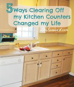 Struggling with a messy, cluttered kitchen? How clearing my kitchen counters changed my life! at LiveRenewed.com