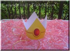 PrintINK Super Mario Bros. Party Crowns  Peach and by PepitosRoom