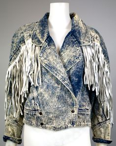 1980s Clothing Trend Stonewash Denim Jacket.... My older sister had this and I always wanted to steel it