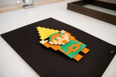 Link - The Legend of Zelda - #8bits hand cut 3D paper craft from the Art Forge of Will Pigg