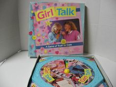"Girl Talk.  LOVED this game. Remember the ""zit"" stickers you had to wear when you didn't answer correctly (or at all!). I SO wish I had saved this."