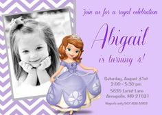 Sofia the First Birthday Party Invitation  by PrettyPaperPixels, $8.99