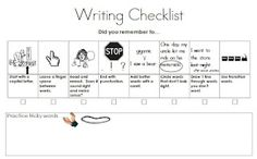 A first grade friendly writing checklist poster.  I WILL be using this with my students!  :)