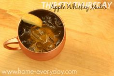 Thirsty Thursday: Apple Whiskey Mule are perfect for fall.