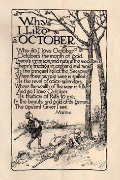 why I like October…