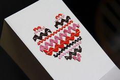 ricrac heart card - but would make an excellent applique