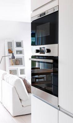 einbau heissluftofen und mikrowelle aus edelstahl. Black Bedroom Furniture Sets. Home Design Ideas