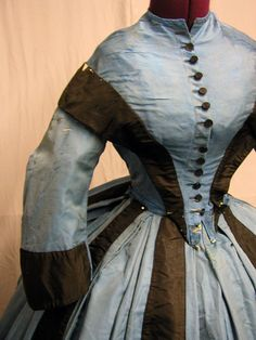 1860s ? Pretty brown and blue.