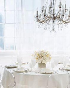 Martha Stewart - White Wedding Centerpiece.  Live lusciously with LUSCIOUS: www.myLusciousLife.com