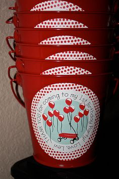 red wagon birthday buckets