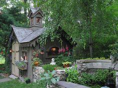 Tiny Summer garden home by NJ Artist, via Flickr
