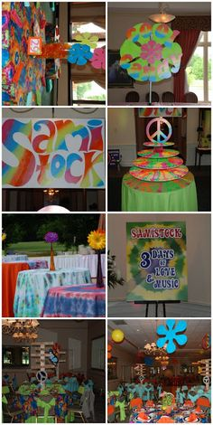 60 39 s party on pinterest tie dye cakes tie dye and 60s party for 60 s decoration ideas