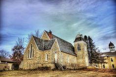 The beautiful haunted church that houses the Dodge County MN Historical Society Museum. ghost stori, haunt ship, creepi place, haunt church