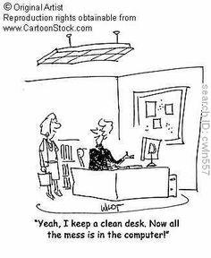 #organize #desk #computer