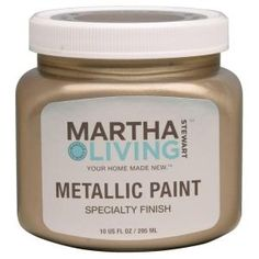 Martha Stewart Metallic Paint in Vintage Gold...awesome paint for refinishing