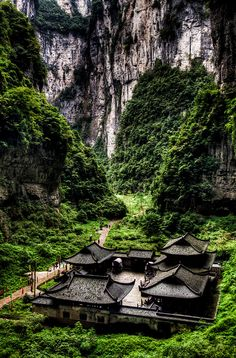 Wulong, Sichuan, China (South China Karst UNESCO World Heritage Site)