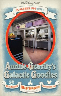 Walt Disney World Planning Pins: Auntie Gravity's Galactic Goodies