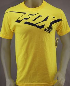 Fox Racing yellow T-shirt with black logo