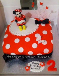 Coolest Minnie Mouse 2nd Birthday Cake...