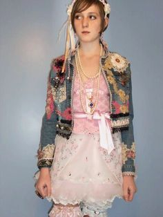 Altered Couture Upcycled Clothing Vintage by UrthGypsyVintage, $299.00 denim jacket