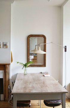 mirror, wall lamps, light