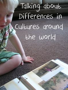 Talking about difference in cultures around the world from a toddler and preschool perspective using ebooks, books and your own photo collections #readforgood