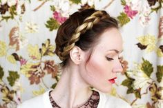 how to style a braided crown