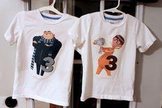 kids can wear the minion shirts and son can wear the gru shirt