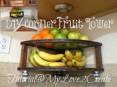 DIY Corner Fruit Tower
