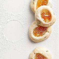 Rosemary-Kissed Orange Thumbprint Cookies Tuscano