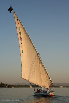 Felucca sailing in the Nile, Egypt | Santiago Urquijo on Flickr