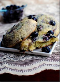 Blueberry Muffin Top Cookies. The top of the muffin is always the best part!