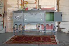 Grey refinished furniture