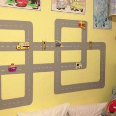 Magnetic paint for kids room to play cars. soo awesome