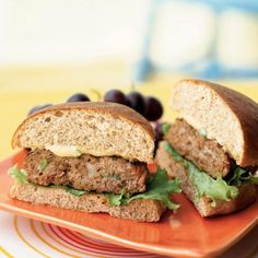 Turkey Burgers with Special Sauce Recipe by cookinglight via myrecipes #Turkey_Burgers #cookinglight #myrecipes