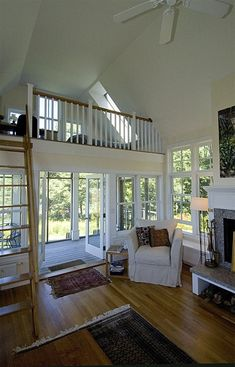 Open small house interior. I love how bright this one is.