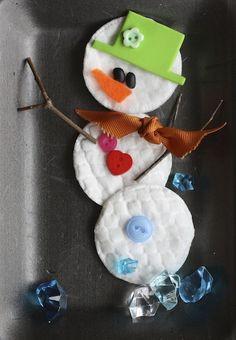 wattenschijfjes sneeuwman!